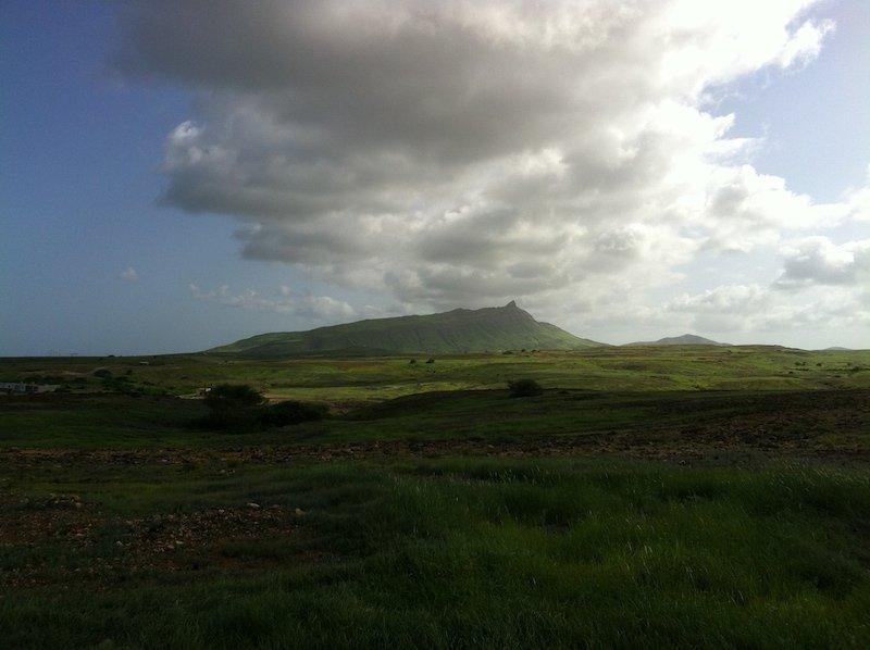 maio cape verde mountain cloud