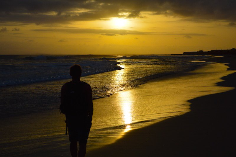 maio cape verde sunset ponta preta beach