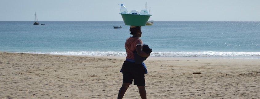 Maio lady on beach