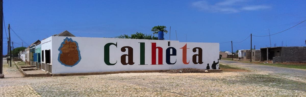 Calheta on island of Maio, Cape Verde