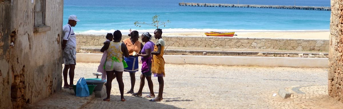 Fish girls in Vila do Maio, Cape Verde