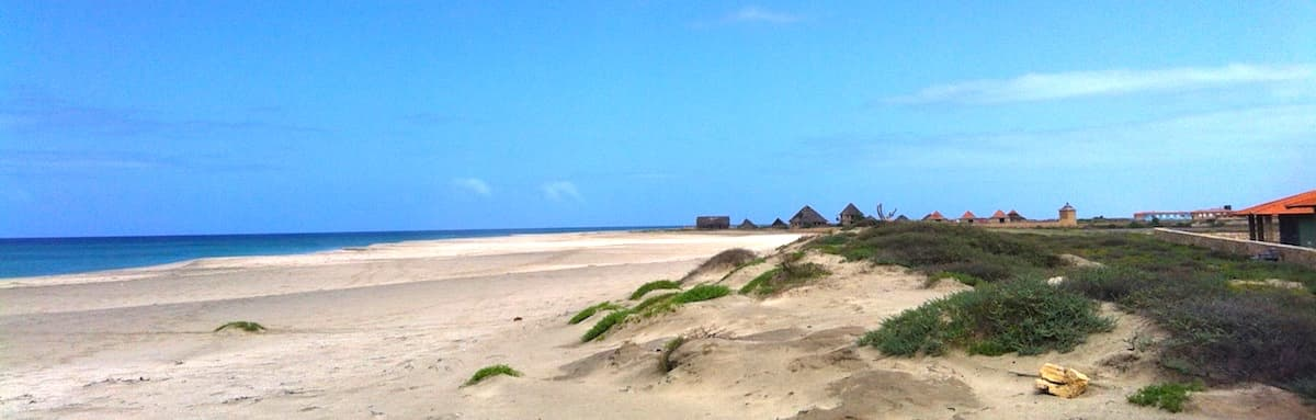 Morro beach on Maio, Cape Verde