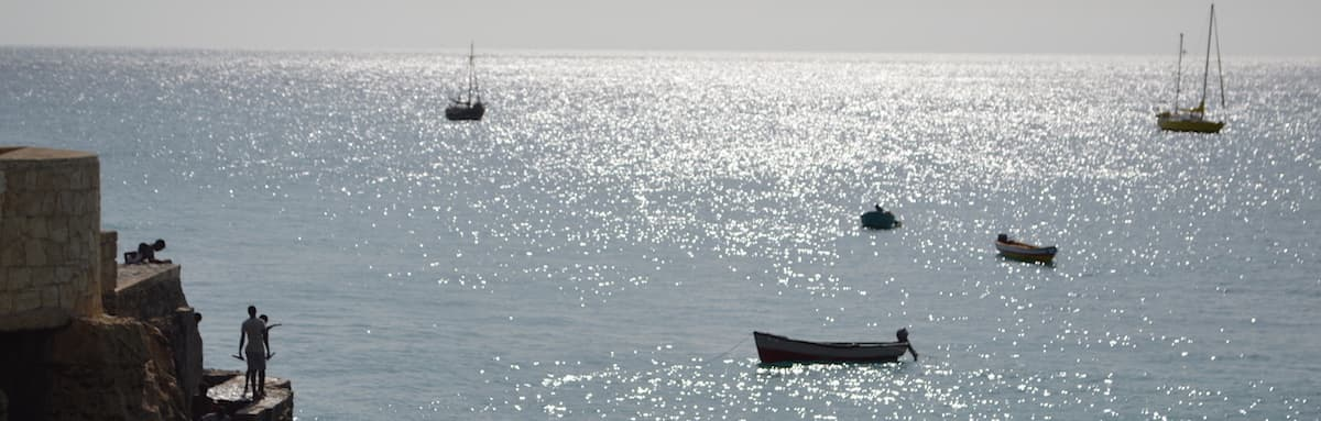 Sparkling sea at Vila do Maio, Cape Verde