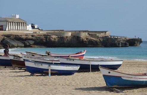 Boats on Bitxe Rotxa, Maio, Cape Verde