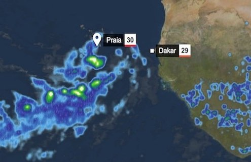 Storm over Cape Verde