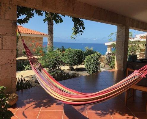 Stella Maris villa shade terrace hammock