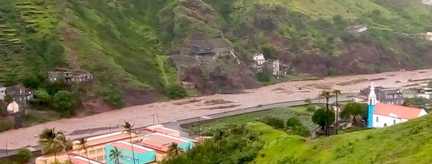 Heavy rain in Cape Verde