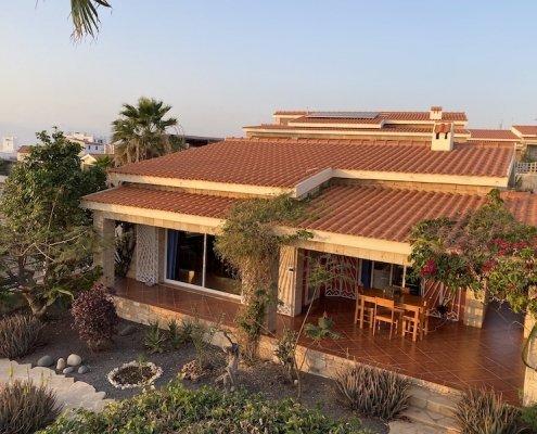Villa and garden at Stella Maris villa